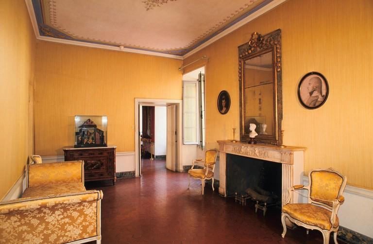 France, Corsica, Corse du Sud, Ajaccio, Maison Bonaparte Museum, Native Bedroom of Napoleon