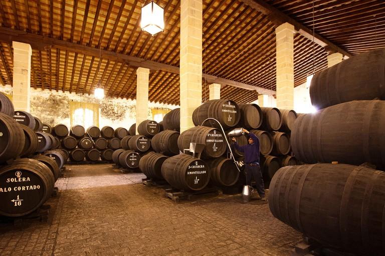 Bodegas Tradicion Jerez de la Frontera Cadiz Andalucia Espana wine cellar andalusia spain