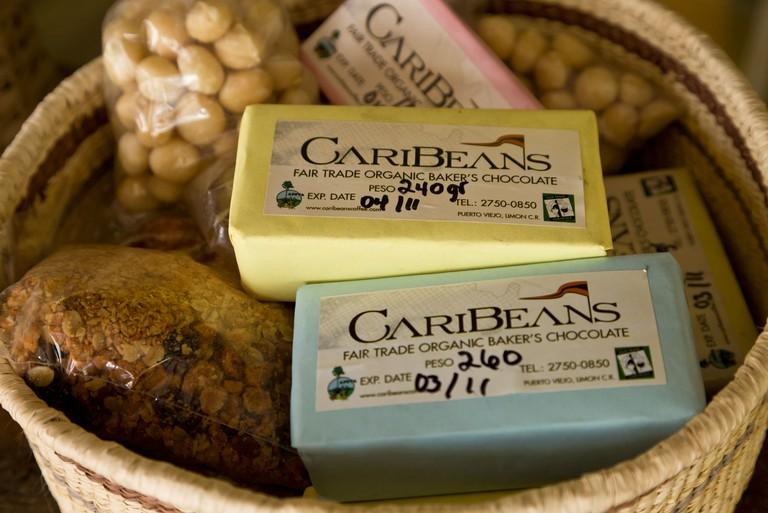 Caribeans fair trade organic chocolate in Puerto Viejo de Talamanca, Costa Rica.
