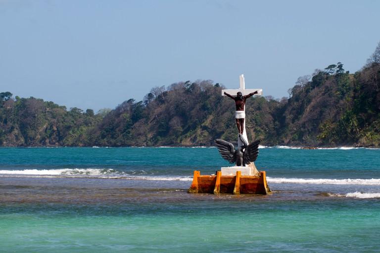 Black Christ of the Waters. Isla Grande, Colon, Republic of Panama, Central America