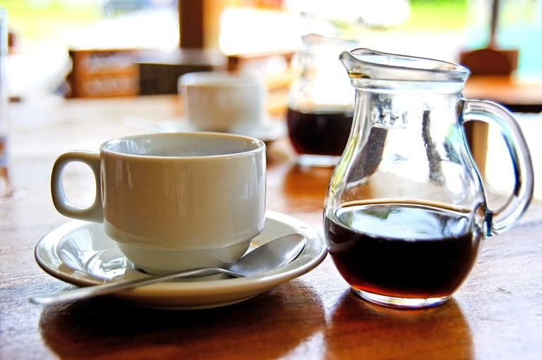 Local coffee, Arenal Volcano, La Fortuna, Republic of Costa Rica, Central America
