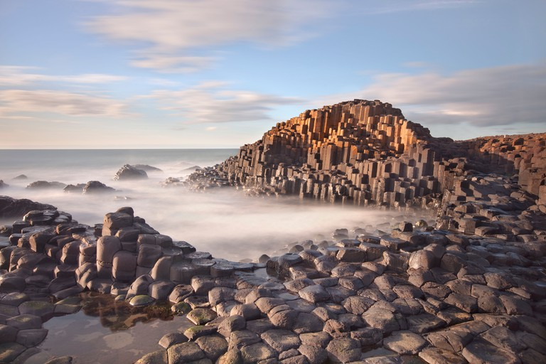Giants causeway captured in the evening.