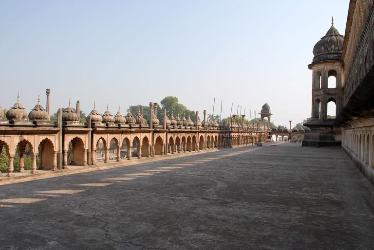 A view of terrace, Bara Imambara, Lucknow, Utter Pradesh, India
