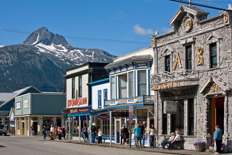 Arctic Brotherhood Hall building.Broadway street.Skagway.Alaska.USA