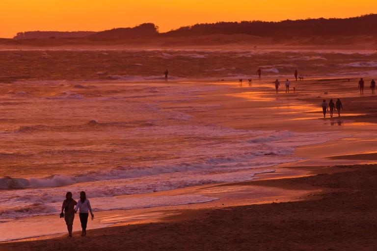 Sunset beach scene, La Paloma, Rocha, Uruguay