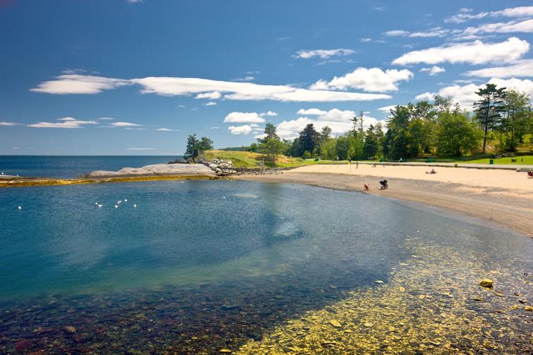Beach, Point Pleasant Park, Halifax, Nova Scotia, Canada