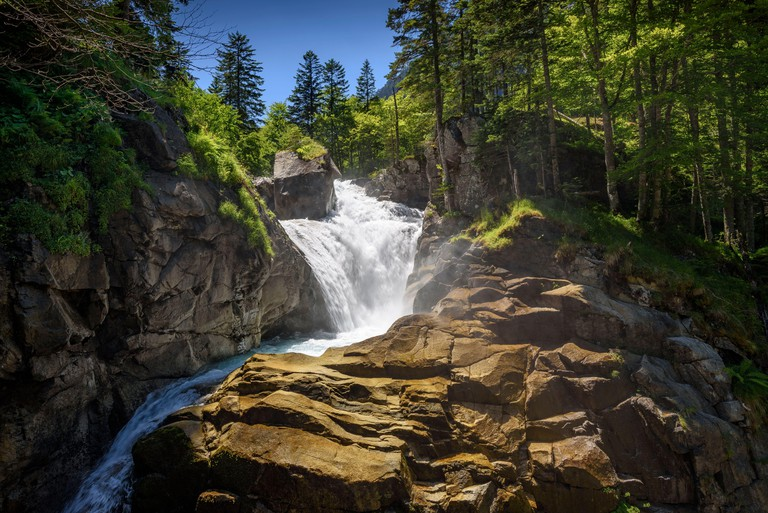 Cerisey Waterfall in the route of Le Chemin des Cascades between Cauterets and Pont d'Espagne (Cauterets, Pyrenees National Park, France)ESP: Ca