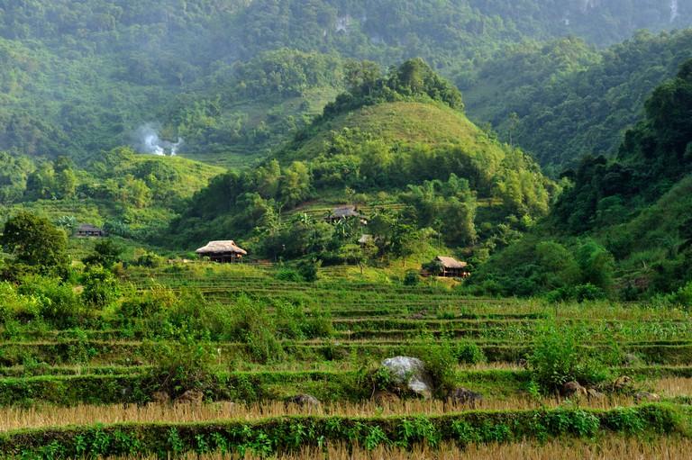 Vietnam, Ninh Binh Province, Cuc Phuong National Park, Ban Hieu, valley