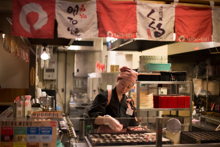 At the Takoyaki Museum, near Universal City, in Osaka, Kansai region, Japan. Image shot 2012. Exact date unknown.