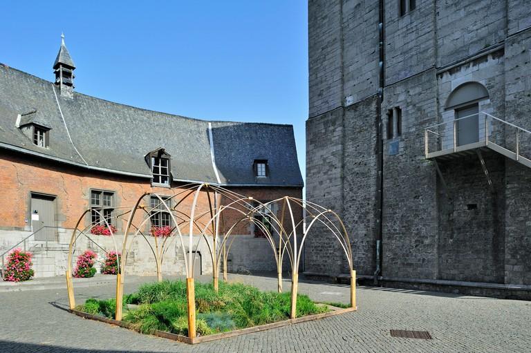 The medieval keep Burbant Tower / Tour Burbant at Ath, Hainaut, Wallonia, Belgium. Image shot 2012. Exact date unknown.