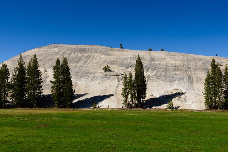 Tioga Pass from Mono basin to Yosemite, Route 120 - Tuolumne Meadows, Pothole Dome.
