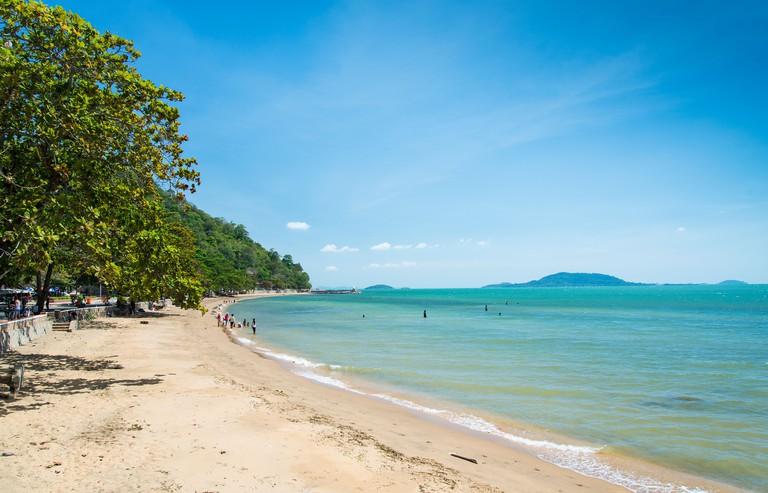 Kep beach on Cambodia coast