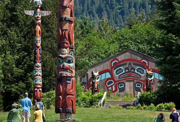 Saxman Totem Park.Ketchikan.Alaska.USA