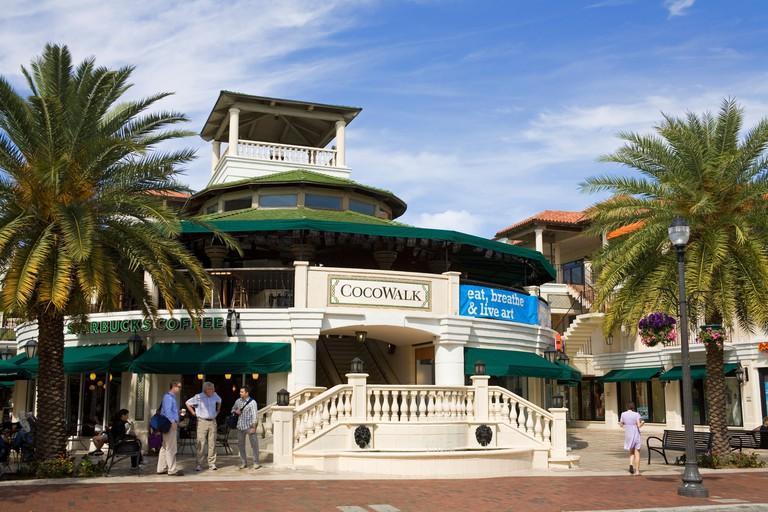 Cocowalk shopping mall in Coconut Grove, Miami, Florida, USA