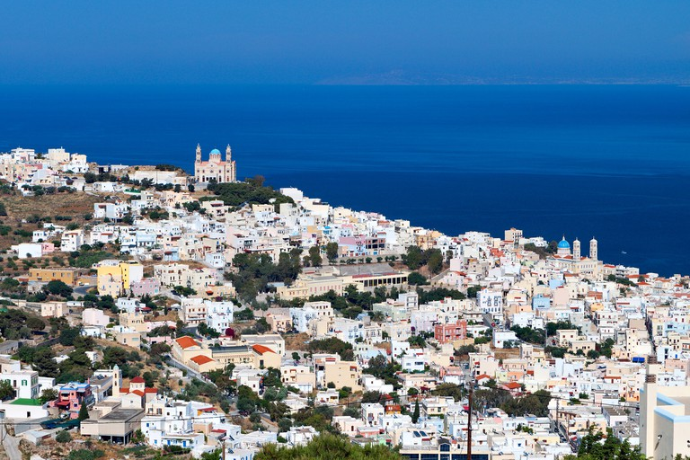 Ermoupoli town at Syros island in Greece