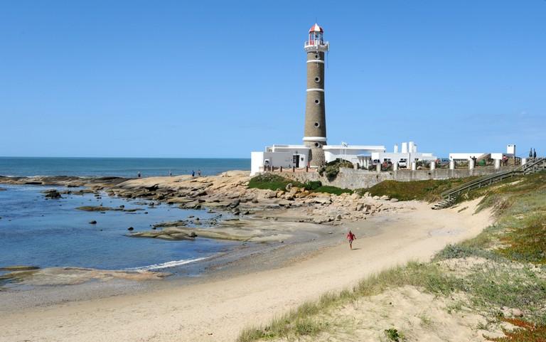 The coast at Jose Ignacio on Uruguay