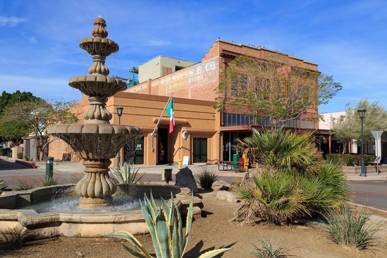 Fountain on Main Street, Yuma, Arizona, USA