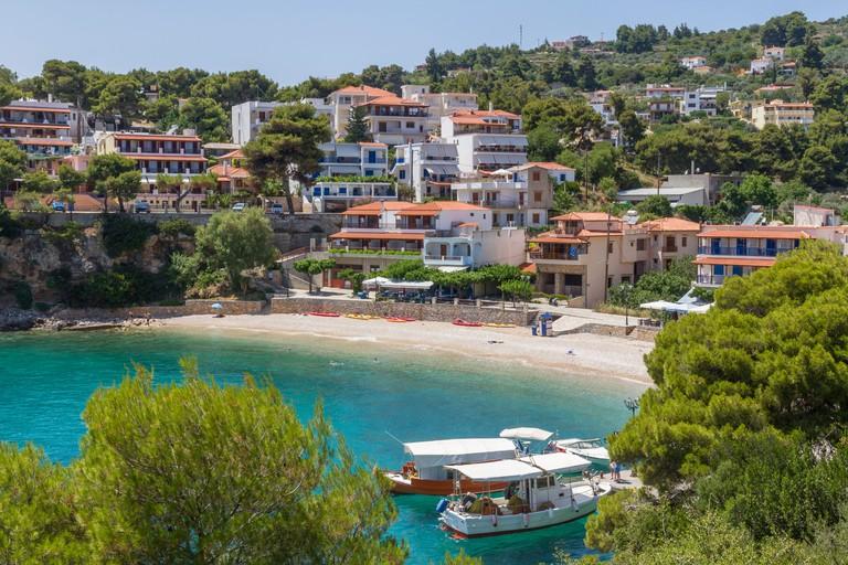 Greece, Sporades, Alonnisos. Roussoum bay