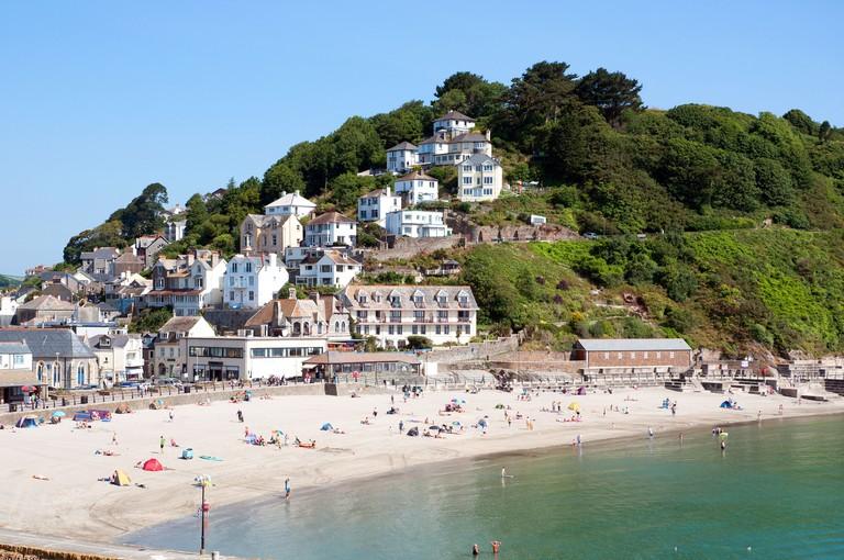 The beach at Looe in Cornwall, UK
