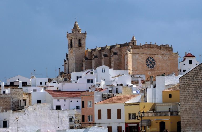 Catedral de Ciutadella Santa Maria, Santa Maria Cathedral, Ciutadella, Menorca, Balearic Islands, Spain, Europe
