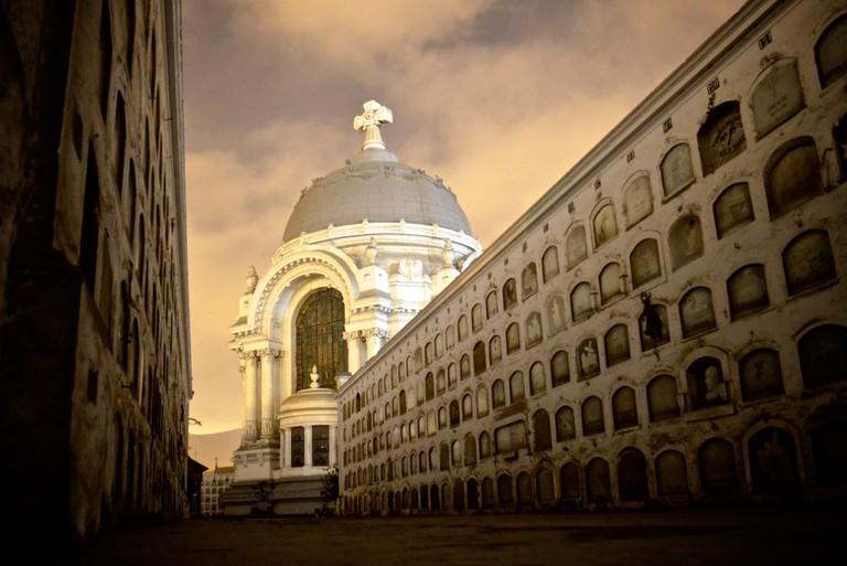 An evening tour of the Presbitero Maestro Cemetery, Lima, Peru