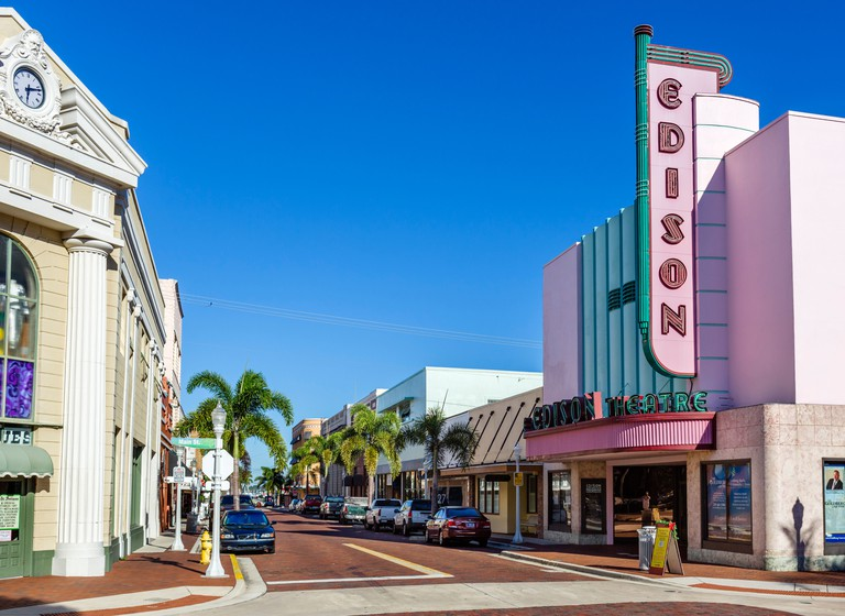 Hendry Street, River District, Fort Myers, Florida, USA