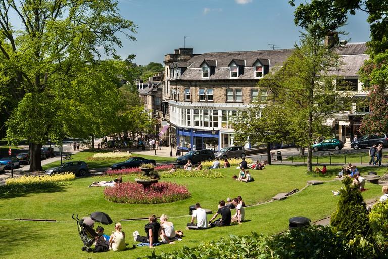 The Stray Park in sunshine, Harrogate, Yorkshire, England