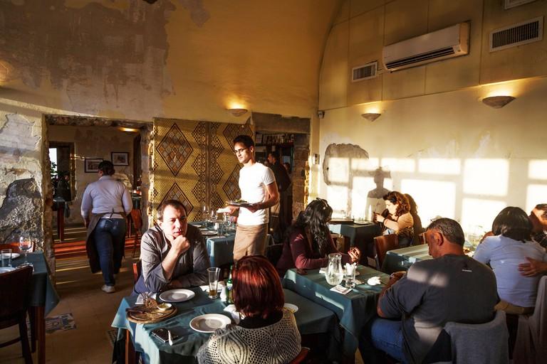 Uri Buri fish restaurant in the old city of Akko (Acre), Israel.