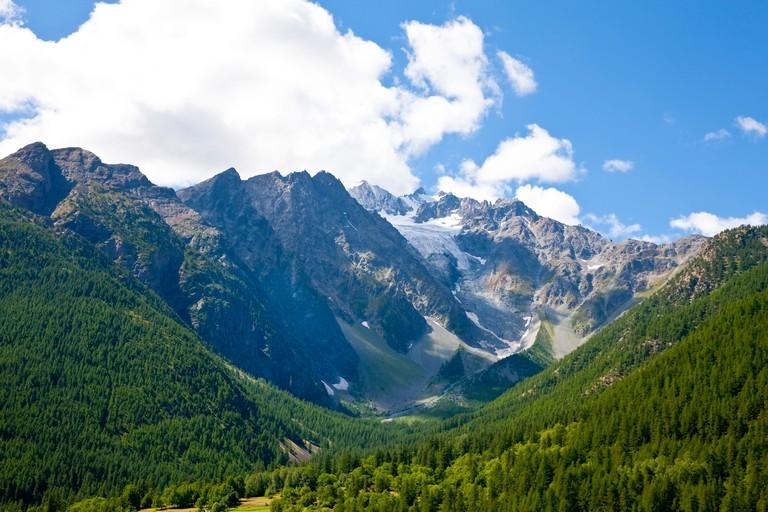 Ecrins National Park near Le Monetier Les Bains, France