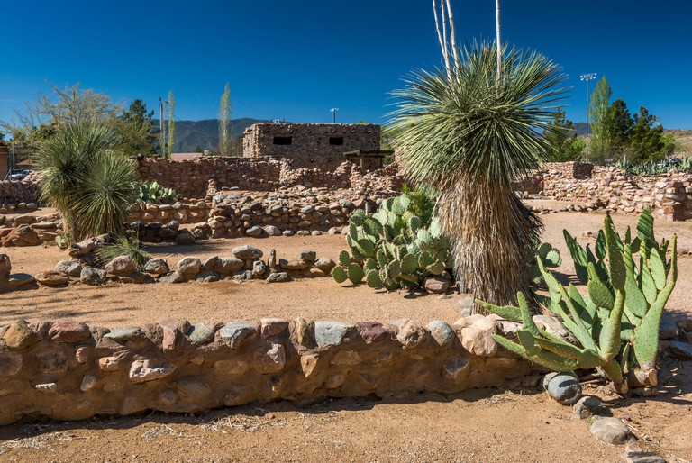 Besh-Ba-Gowah Archaeological Park, a partially reconstructed 14th century Salado Indian pueblo ruin, in Globe, Arizona, USA