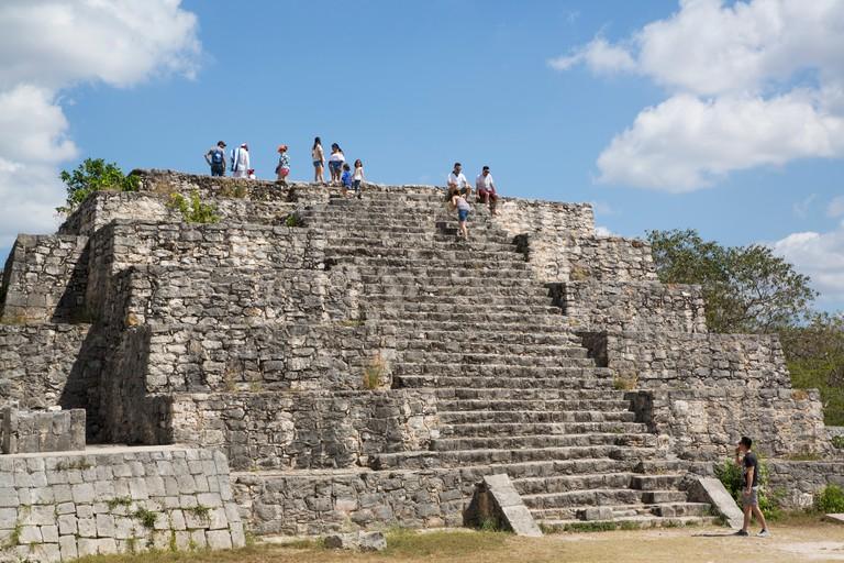 Structure 36, Mayan Ruins, Dzibilchaltun Archaeological Site, 700 to 800 AD, near Merida, Yucatan, Mexico, North America