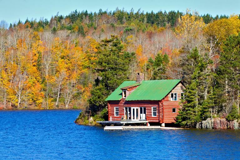 Log house, Lochaber Lake, Antigonish County, Nova Scotia, Canada