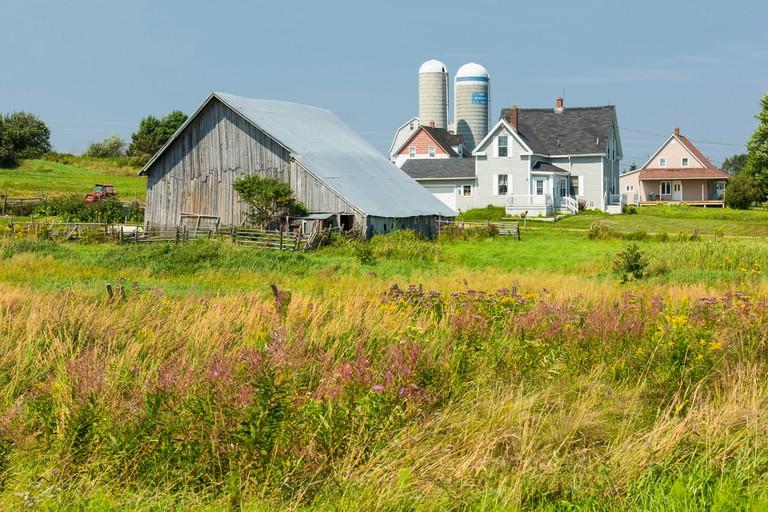 Wooden barn,  Memramcook,, New Brunswick, Canada