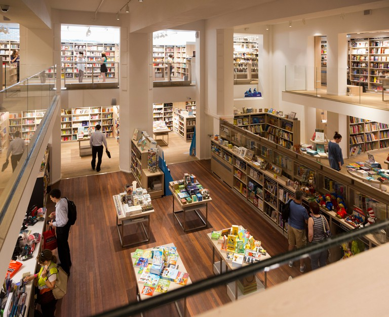 Interior view of the new Foyles flagship bookshop in Charing Cross Road, London