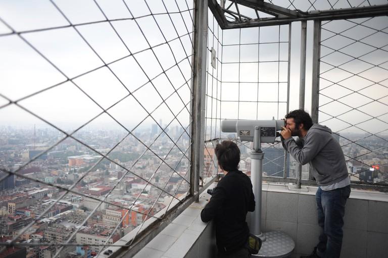 Observation dock on Torre Latinoamericana, Mexico City.