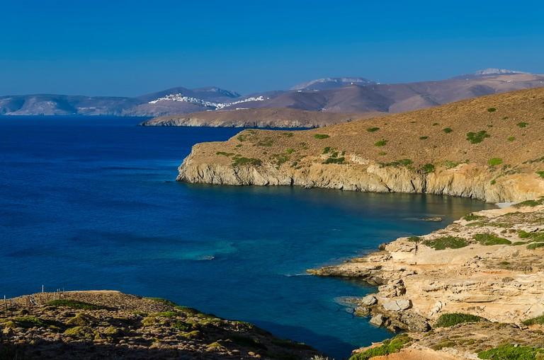 Plakes beach in Astypalaia island Greece