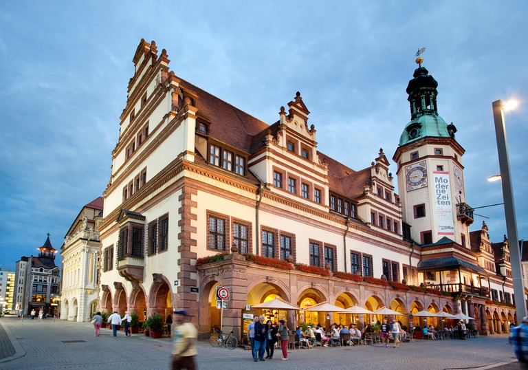 Market Square in Leipzig, Germany.. Image shot 2014. Exact date unknown.
