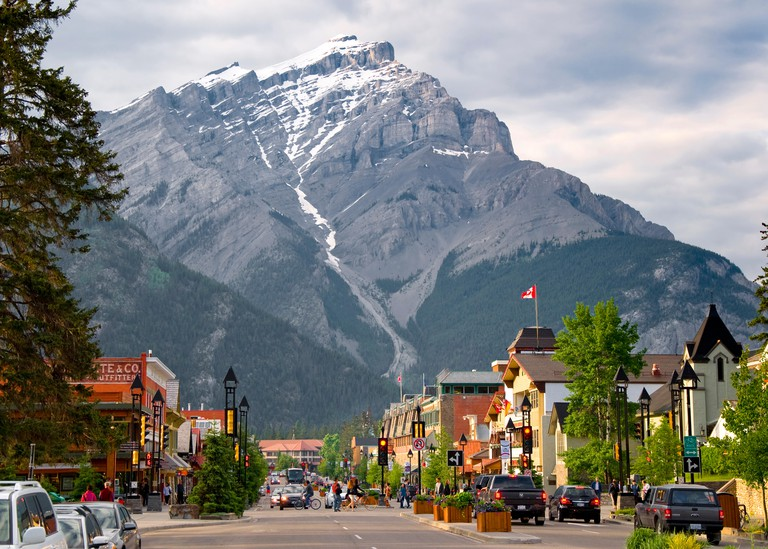 Banff Town, Banff, Alberta, Canada
