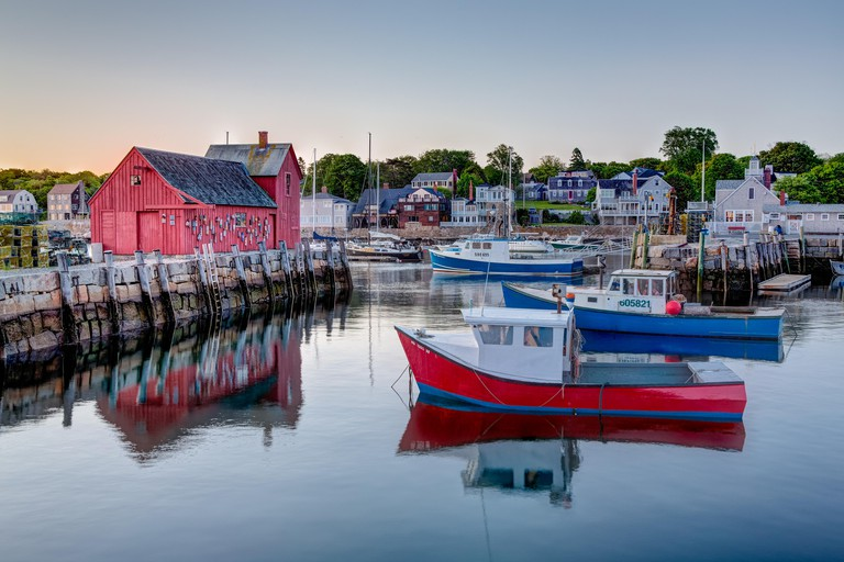 The quintessential New England Motif Number One sunrise. Located on Bradley Wharf in the harbor town of Rockport. Motif Number One has been a long time favorite subject for artist, due to its location, lighting, composition as well as it being a symbol of
