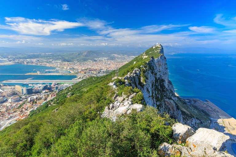 Gibraltar Rock view from above