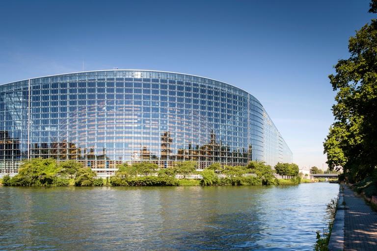 Modern architecture, France - European Parliament Building, Strasbourg, France, Europe