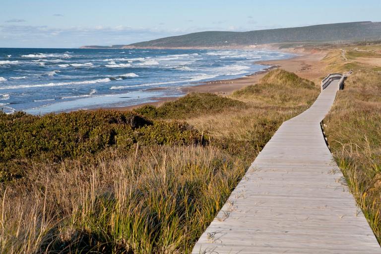 Inverness Beach Boardwalk, Nova Scotia, Canada