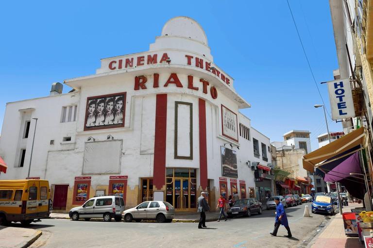 Morocco, Casablanca, the Cinema Rialto in rue Mohamed-El-Qorri built in 1929 by architect Pierre Jabin