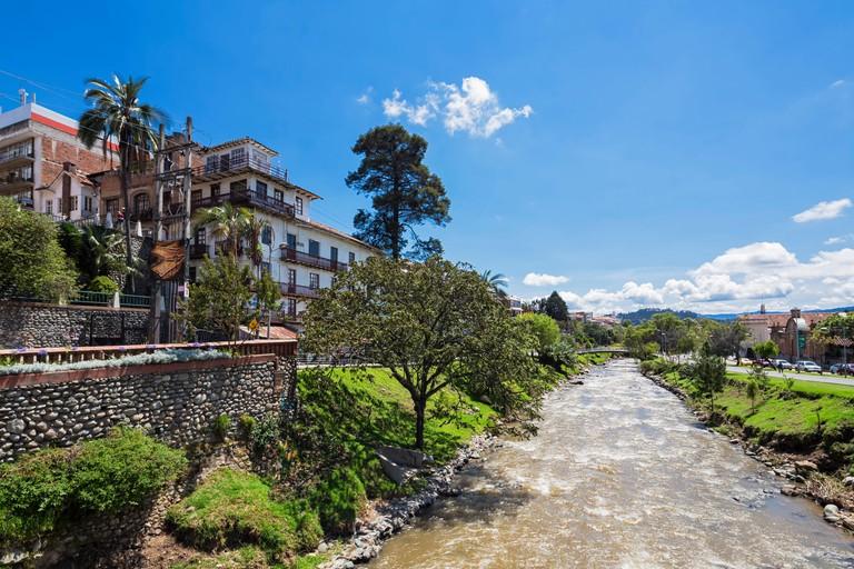 Ecuador, Cuenca, view to Tomebamba River
