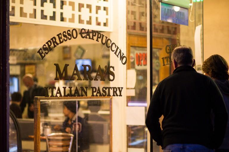 Mara's Italian pastry shop in North Beach, San Francisco, California, USA