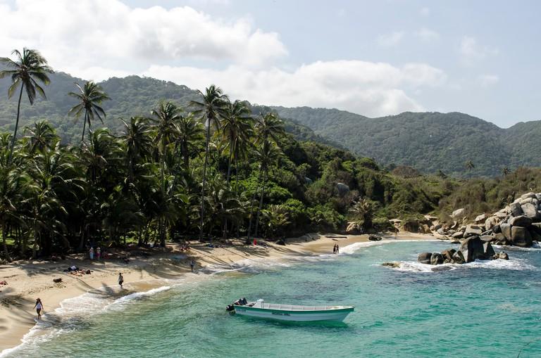 Beach at Tayrona National Park Santa Marta Colombia