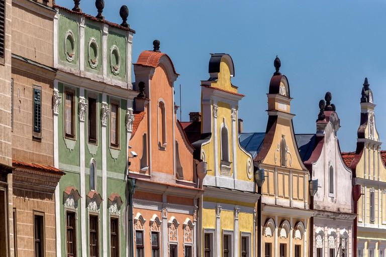Telc Czech Republic baroque houses on square