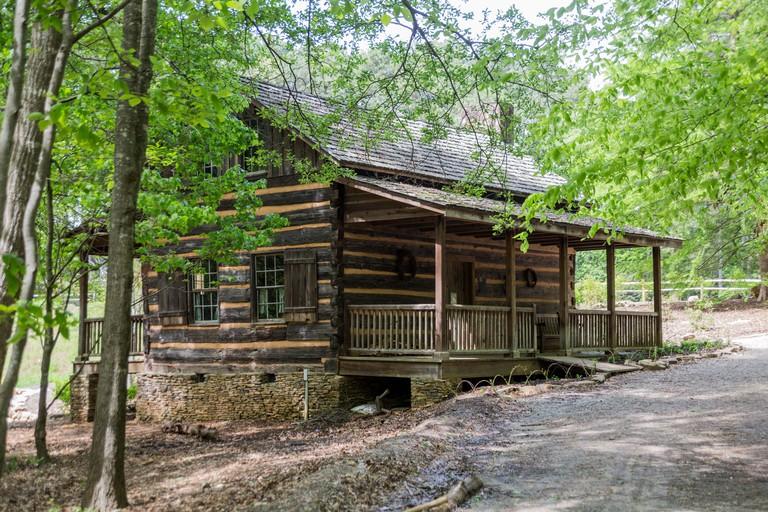 Hunt Log Cabin, South Carolina Botanical Gardens, Clemson, South Carolina, USA