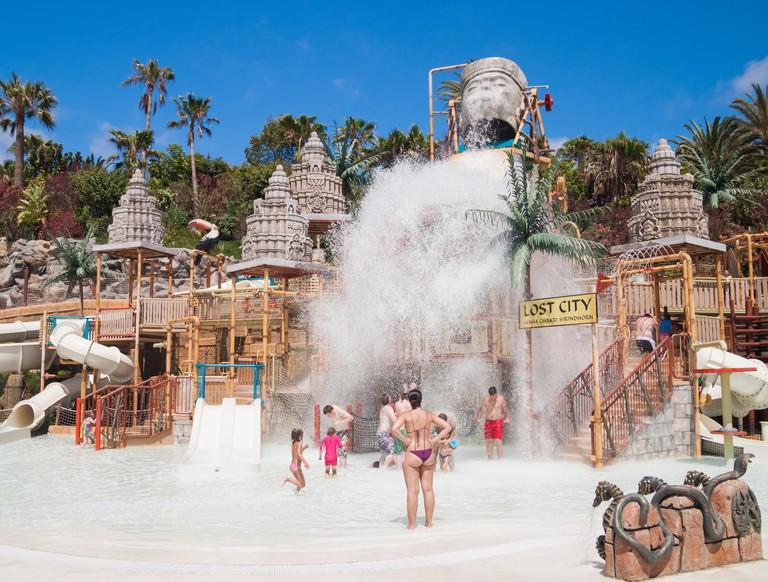Siam Park water park near Playa de Las Americas on Tenerife, Canary Islands, Spain