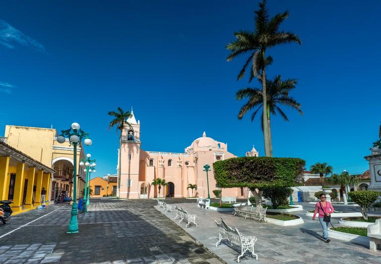 Iglesia La Candelaria, Plaza Hidalgo, in Tlacotalpan, UNESCO World Heritage Site, Veracruz state, Mexico